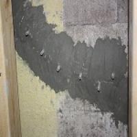 Repaired diagonal crack